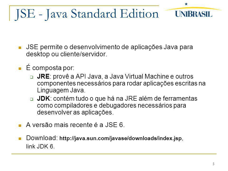 JSE - Java Standard Edition