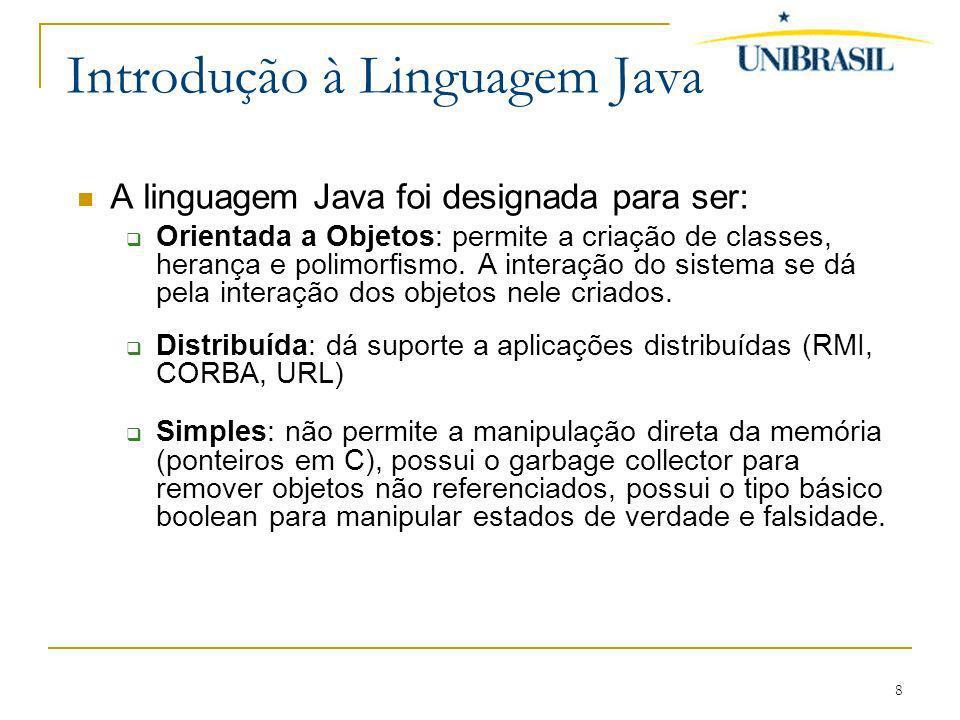 Introdução à Linguagem Java