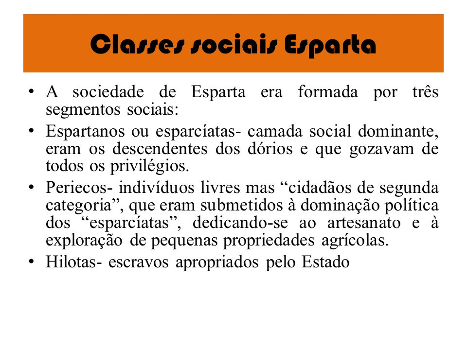 Classes sociais Esparta