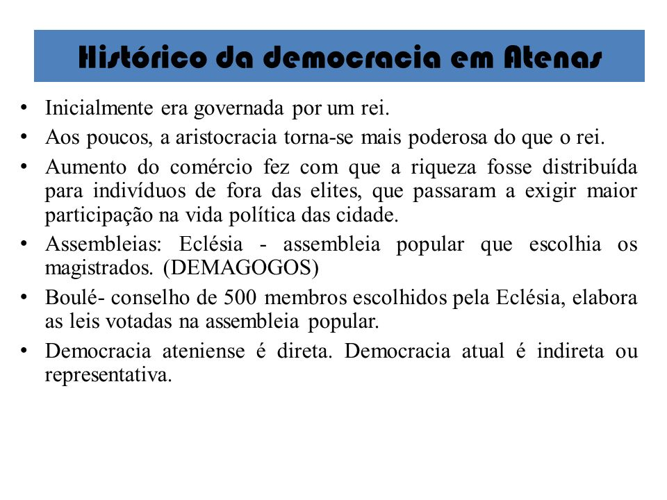 Histórico da democracia em Atenas