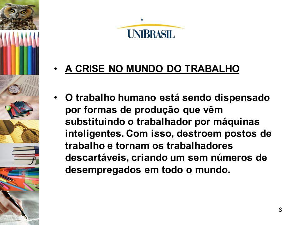 A CRISE NO MUNDO DO TRABALHO
