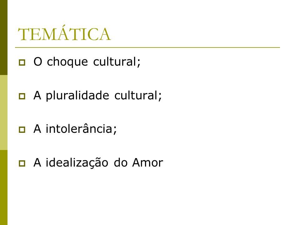 TEMÁTICA O choque cultural; A pluralidade cultural; A intolerância;
