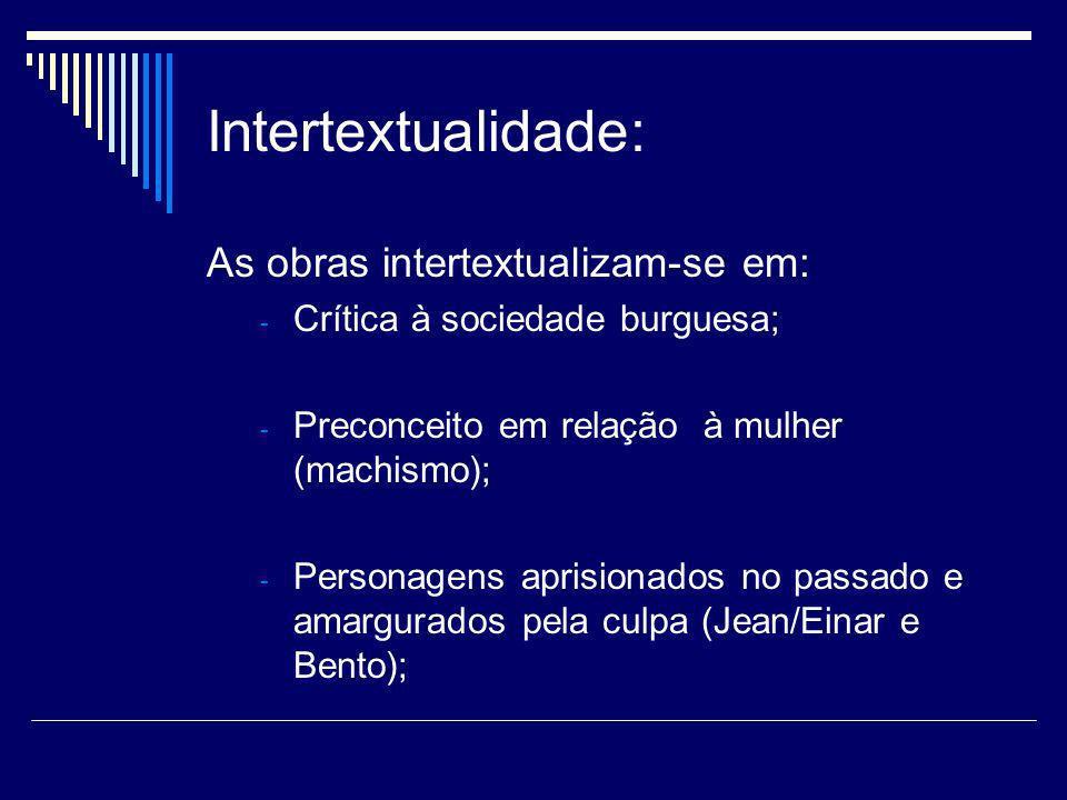 Intertextualidade: As obras intertextualizam-se em: