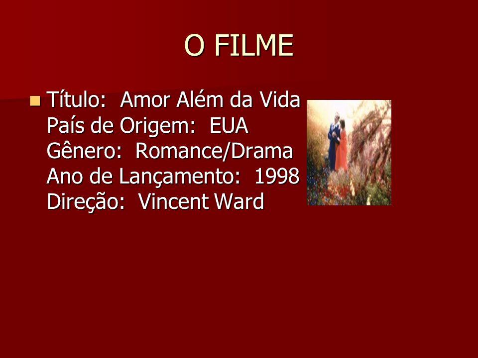 O FILME Título: Amor Além da Vida País de Origem: EUA Gênero: Romance/Drama Ano de Lançamento: 1998 Direção: Vincent Ward.