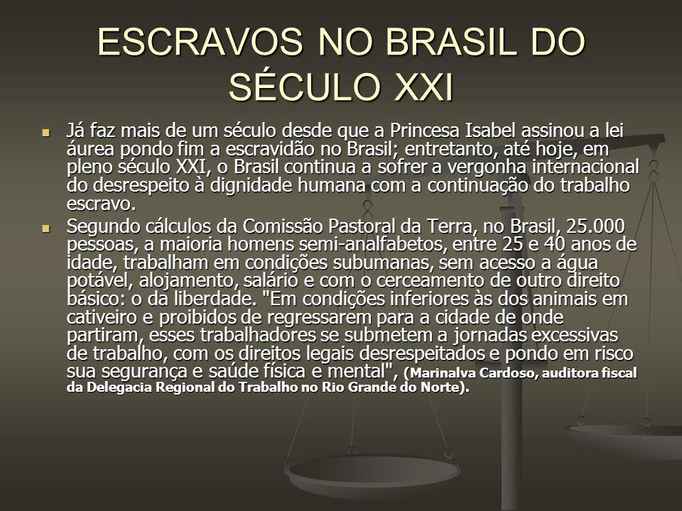 ESCRAVOS NO BRASIL DO SÉCULO XXI