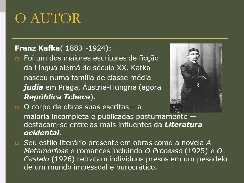 O AUTOR Franz Kafka( 1883 -1924):