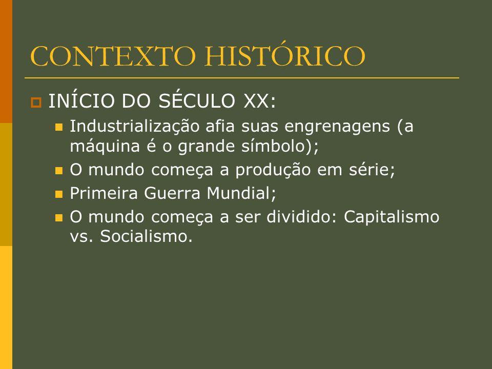 CONTEXTO HISTÓRICO INÍCIO DO SÉCULO XX: