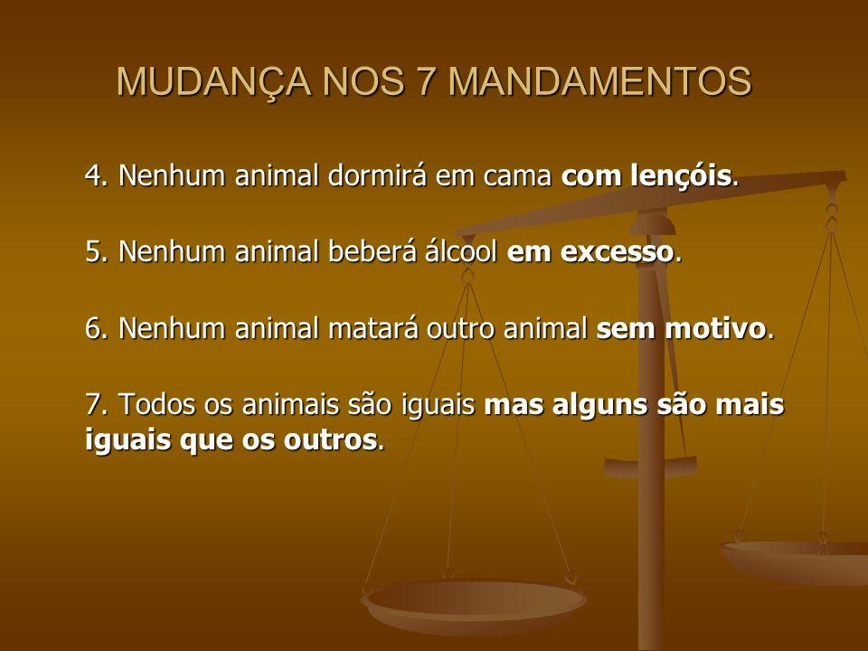 MUDANÇA NOS 7 MANDAMENTOS