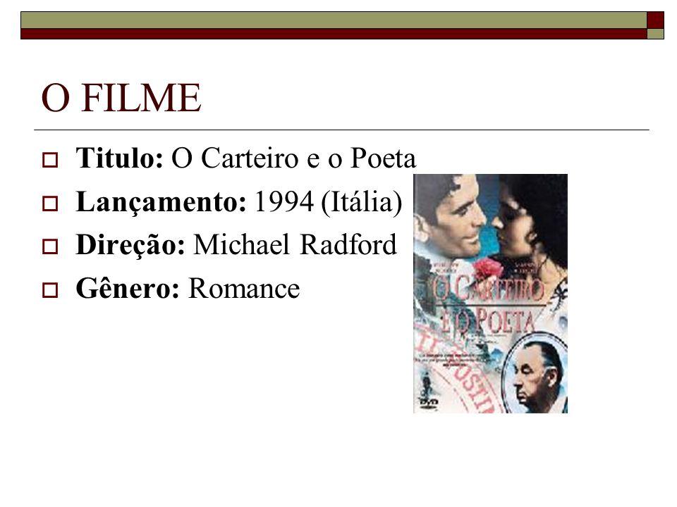 O FILME Titulo: O Carteiro e o Poeta Lançamento: 1994 (Itália)