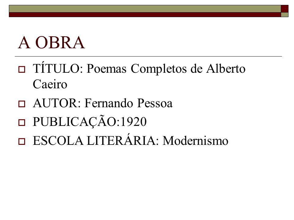 A OBRA TÍTULO: Poemas Completos de Alberto Caeiro