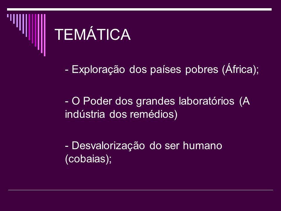 TEMÁTICA - Exploração dos países pobres (África);