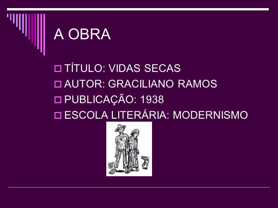 A OBRA TÍTULO: VIDAS SECAS AUTOR: GRACILIANO RAMOS PUBLICAÇÃO: 1938