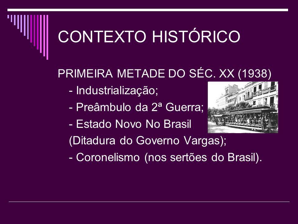 CONTEXTO HISTÓRICO PRIMEIRA METADE DO SÉC. XX (1938)