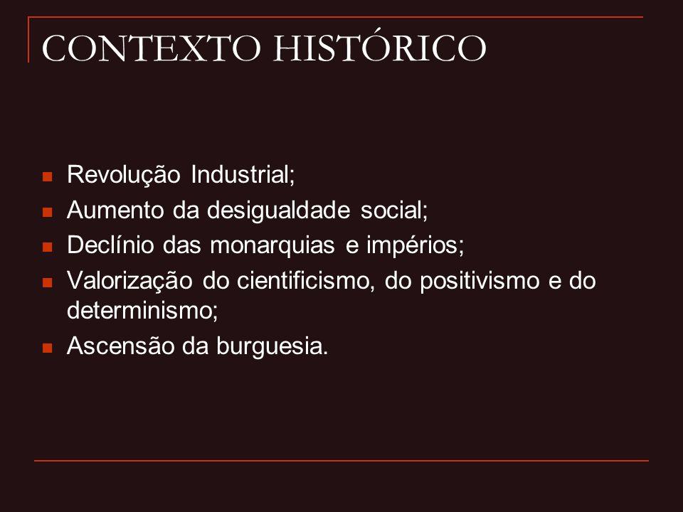 CONTEXTO HISTÓRICO Revolução Industrial;