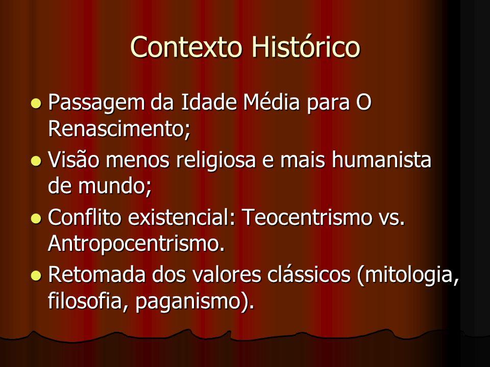 Contexto Histórico Passagem da Idade Média para O Renascimento;