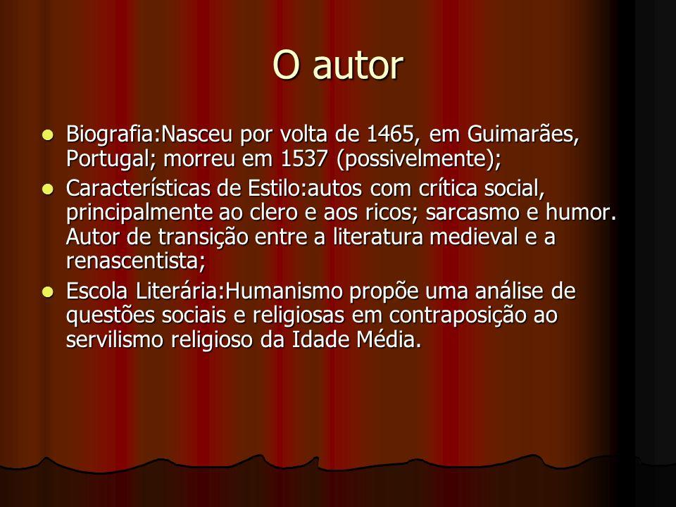 O autor Biografia:Nasceu por volta de 1465, em Guimarães, Portugal; morreu em 1537 (possivelmente);