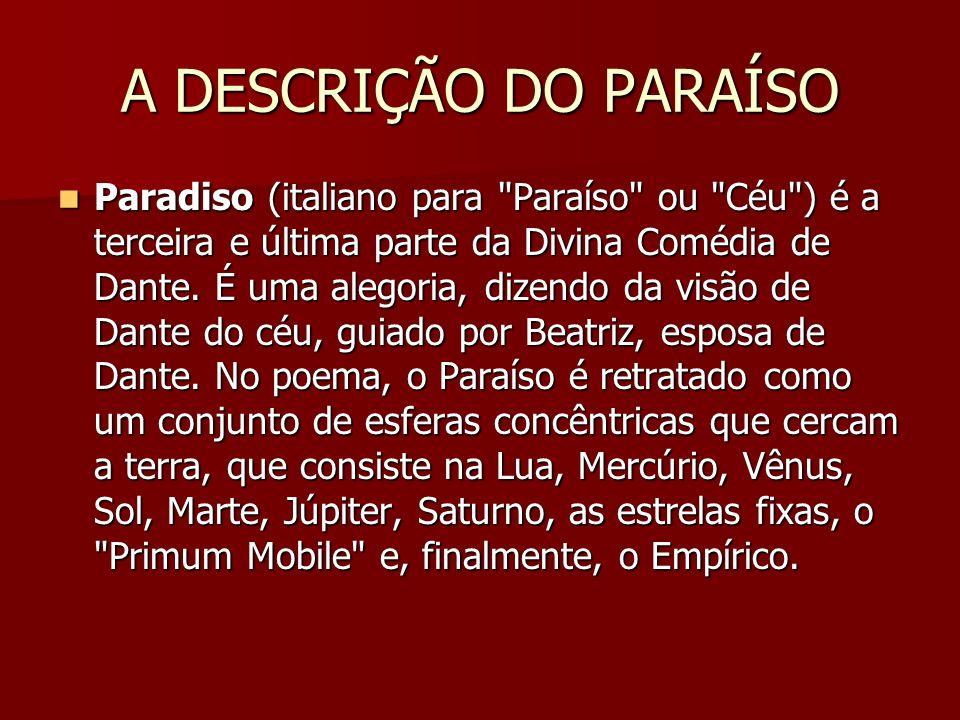 A DESCRIÇÃO DO PARAÍSO