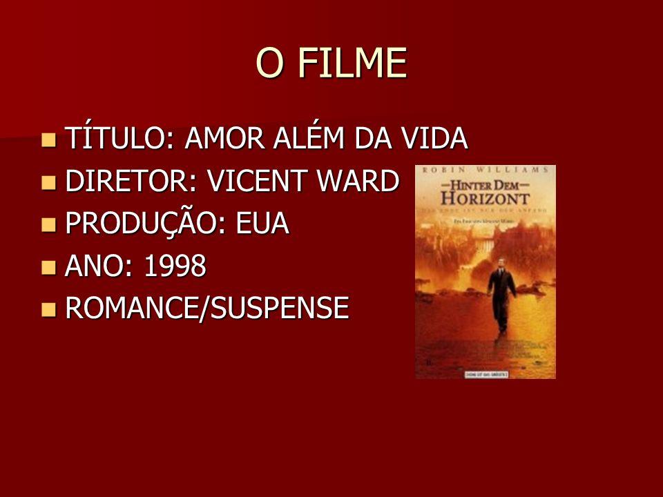 O FILME TÍTULO: AMOR ALÉM DA VIDA DIRETOR: VICENT WARD PRODUÇÃO: EUA