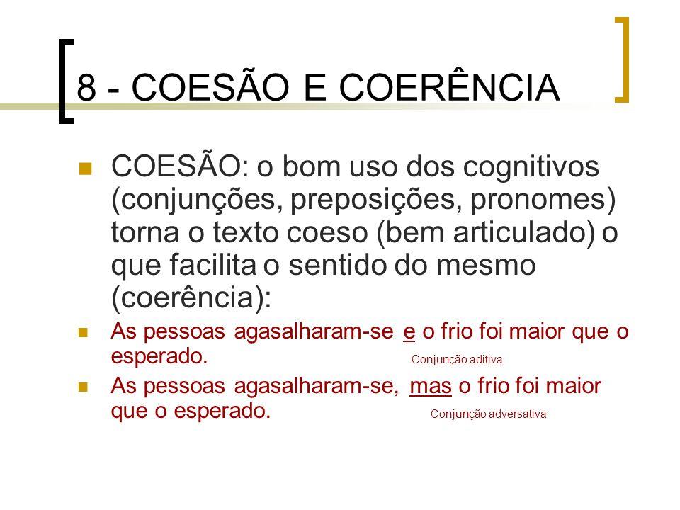 8 - COESÃO E COERÊNCIA