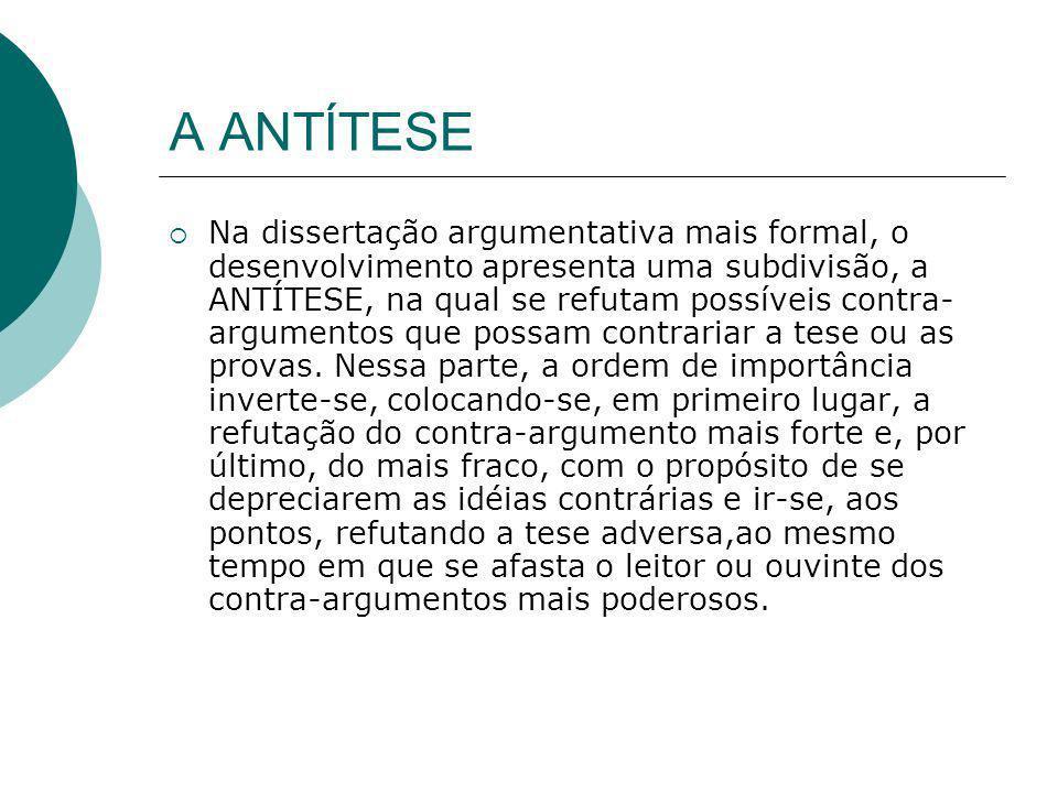 A ANTÍTESE