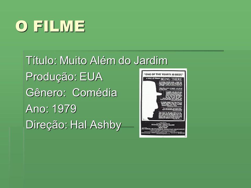 O FILME Título: Muito Além do Jardim Produção: EUA Gênero: Comédia