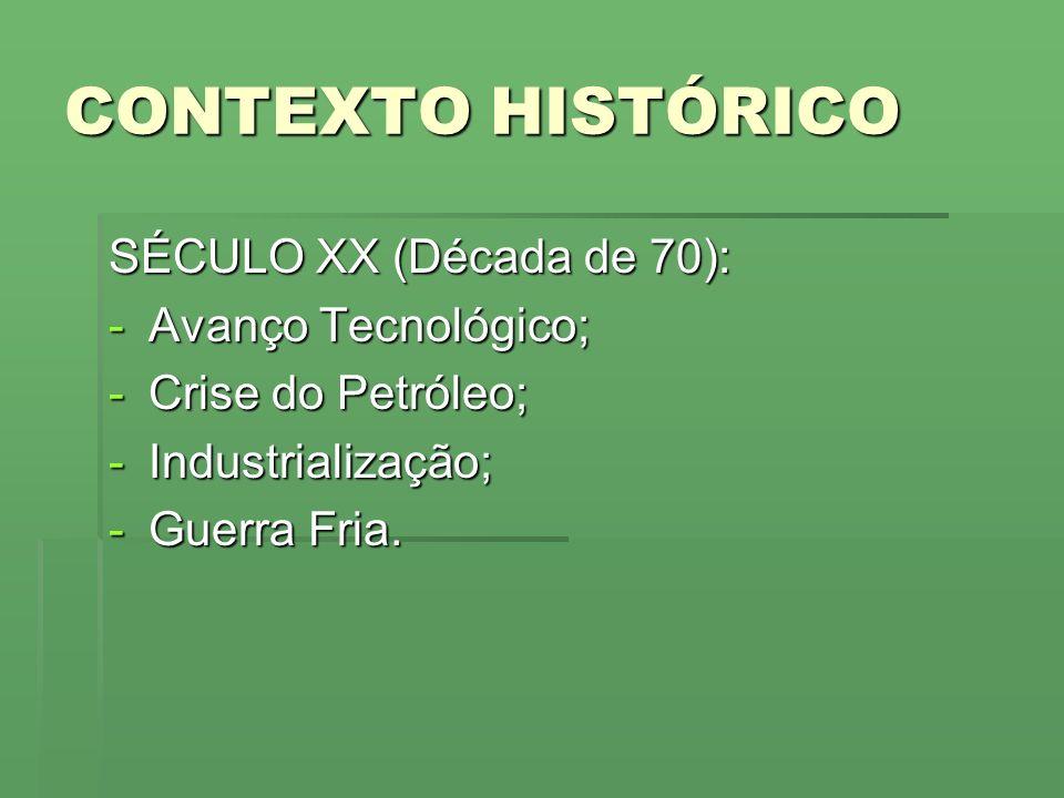 CONTEXTO HISTÓRICO SÉCULO XX (Década de 70): Avanço Tecnológico;