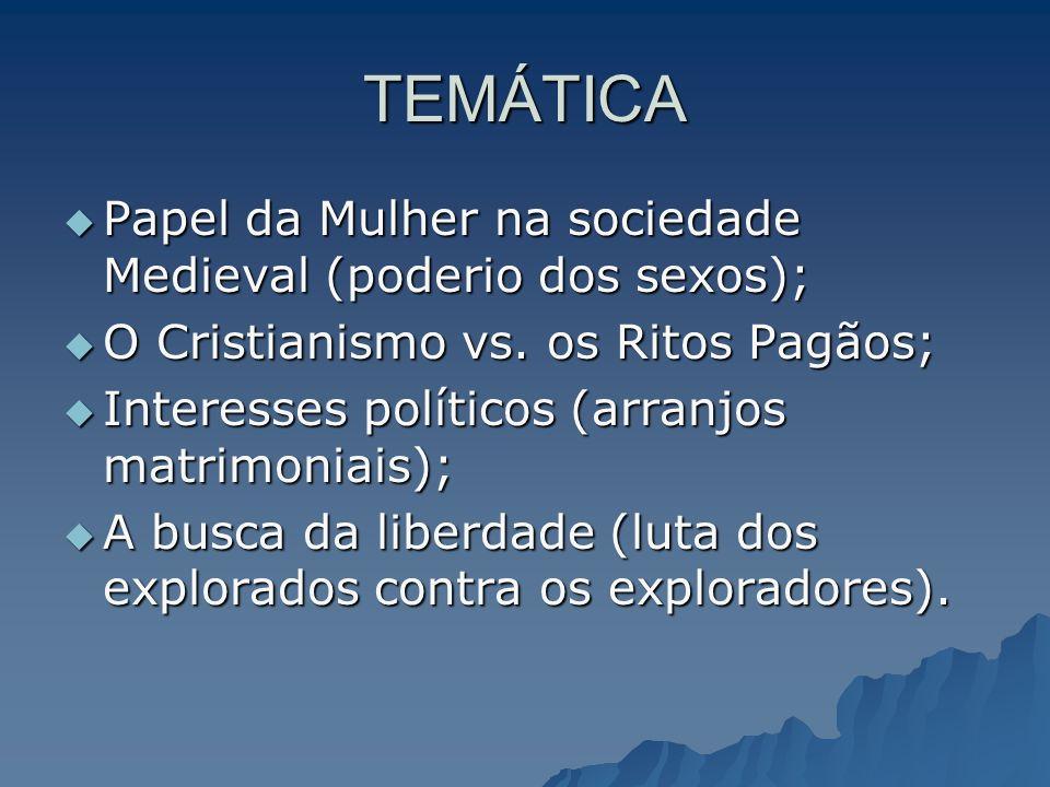 TEMÁTICA Papel da Mulher na sociedade Medieval (poderio dos sexos);