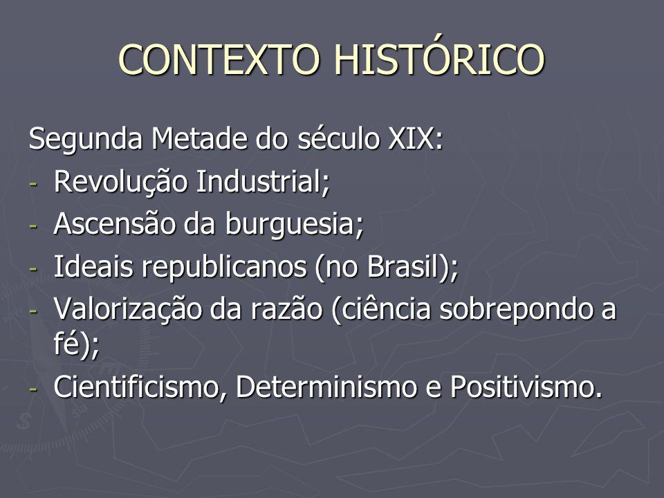 CONTEXTO HISTÓRICO Segunda Metade do século XIX: Revolução Industrial;