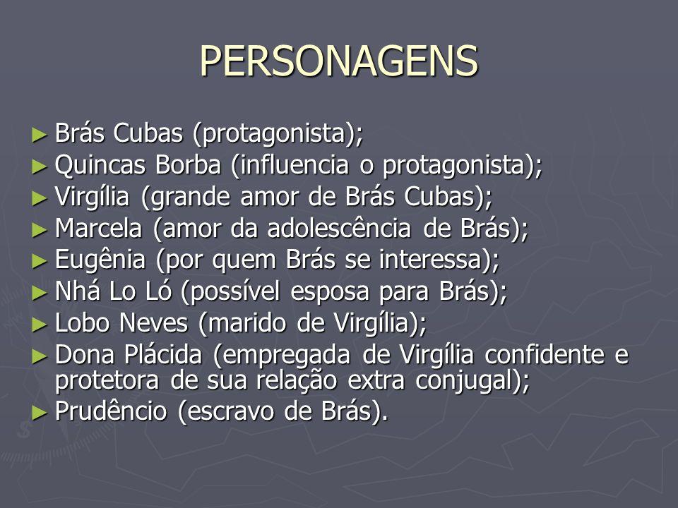 PERSONAGENS Brás Cubas (protagonista);