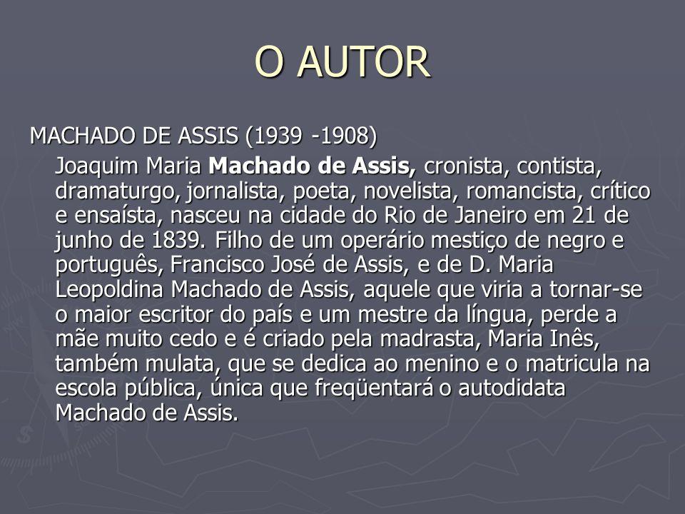 O AUTOR MACHADO DE ASSIS (1939 -1908)