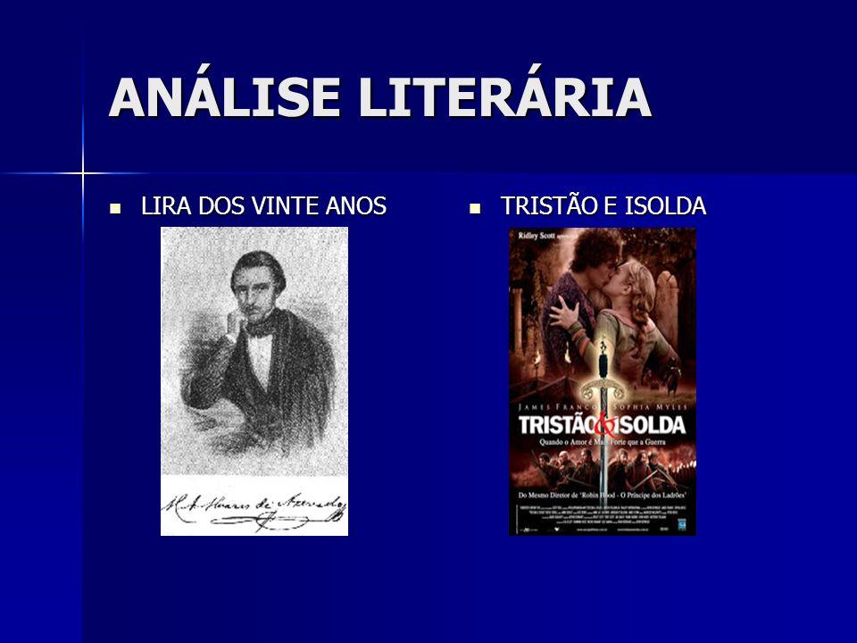 ANÁLISE LITERÁRIA LIRA DOS VINTE ANOS TRISTÃO E ISOLDA