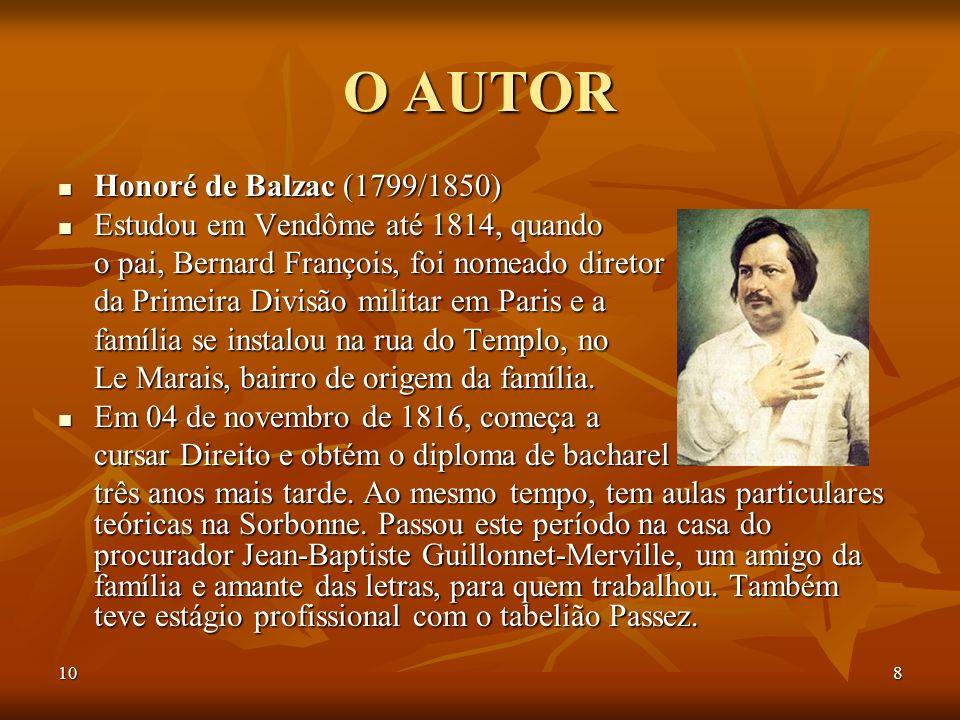 O AUTOR Honoré de Balzac (1799/1850)