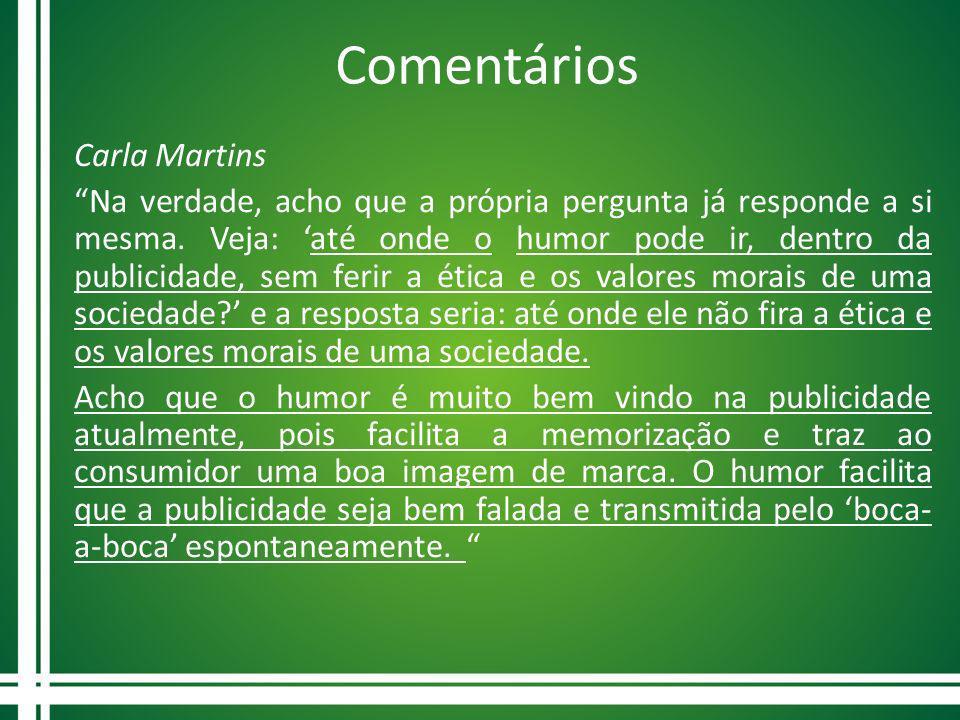 Comentários Carla Martins