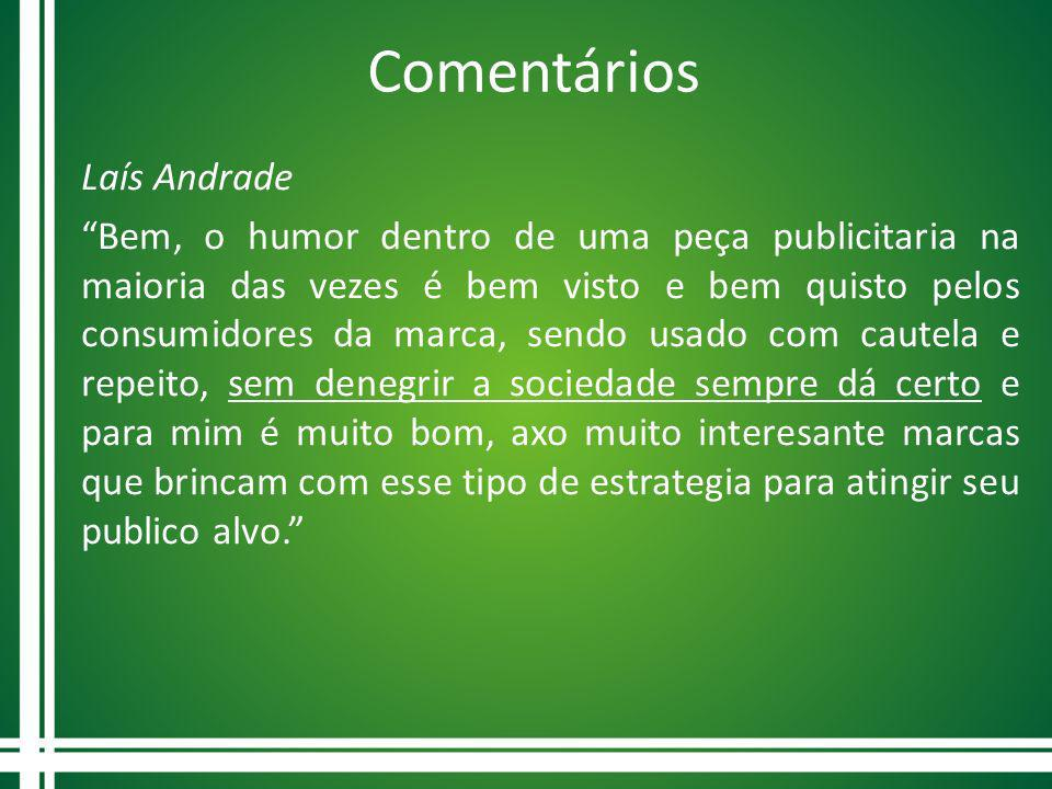 Comentários Laís Andrade