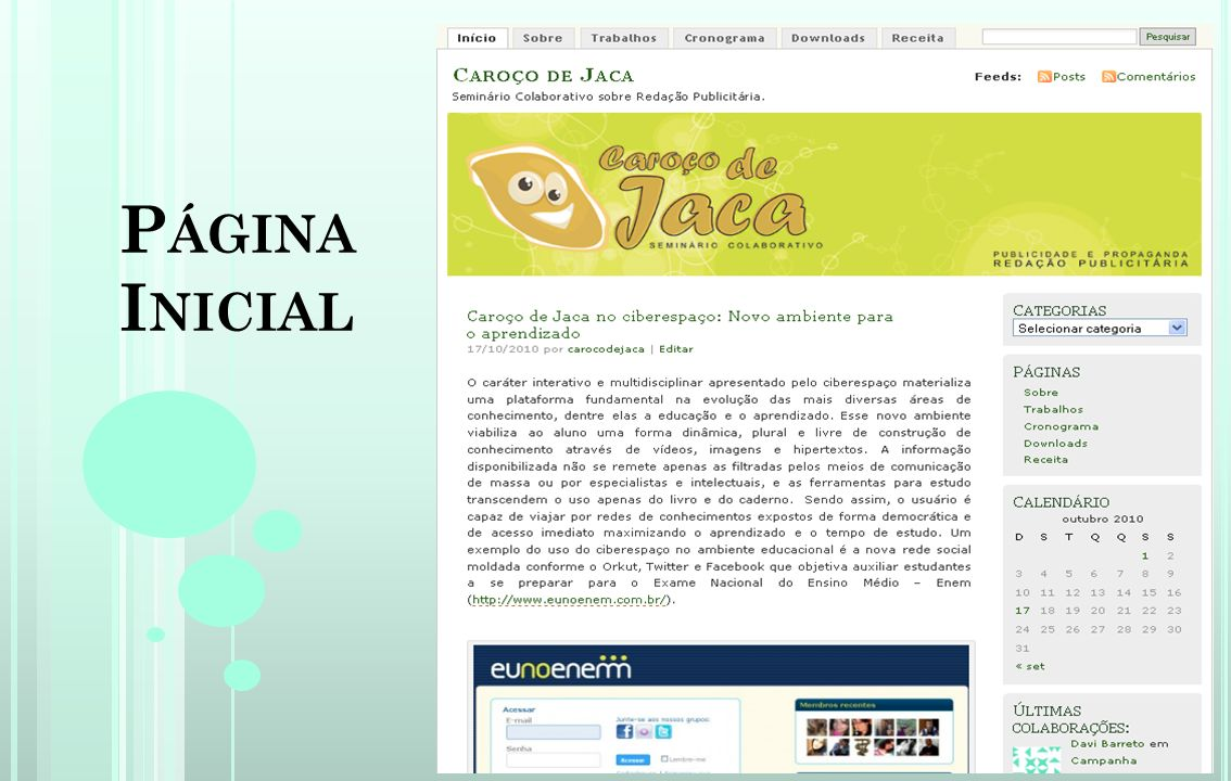 Página Inicial