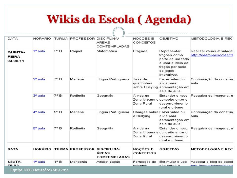 Wikis da Escola ( Agenda)