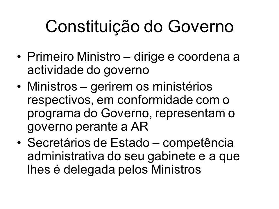 Constituição do Governo