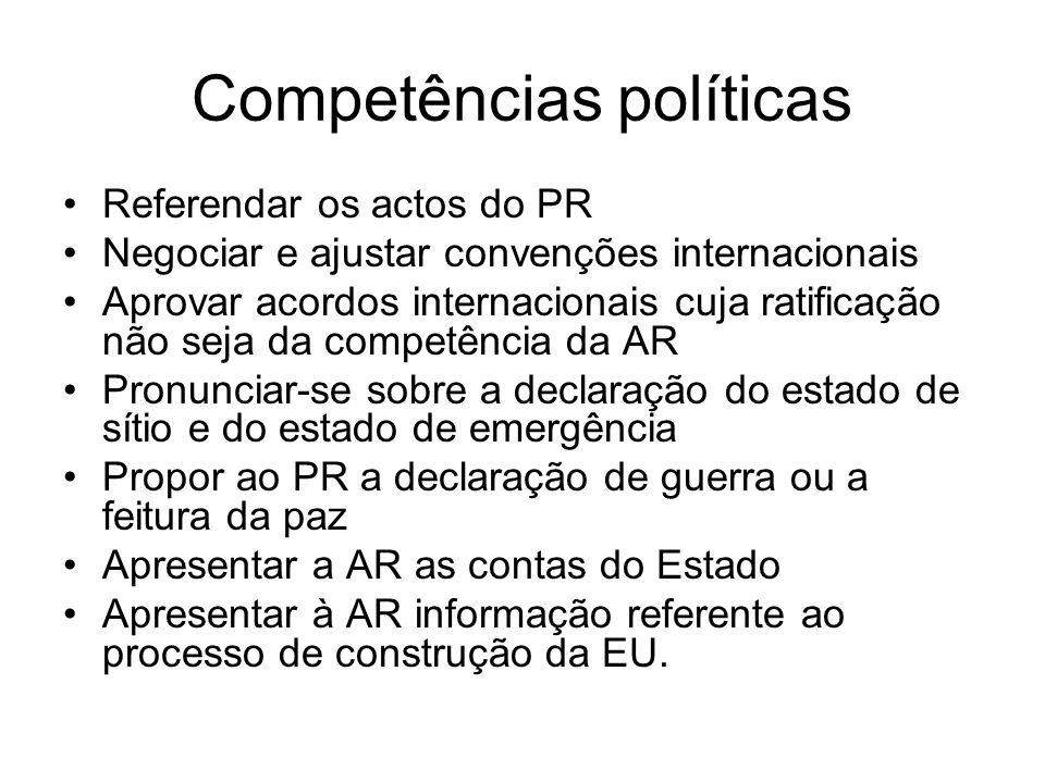 Competências políticas