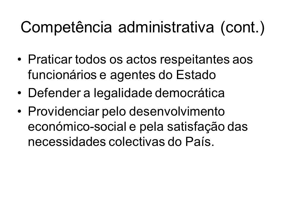 Competência administrativa (cont.)