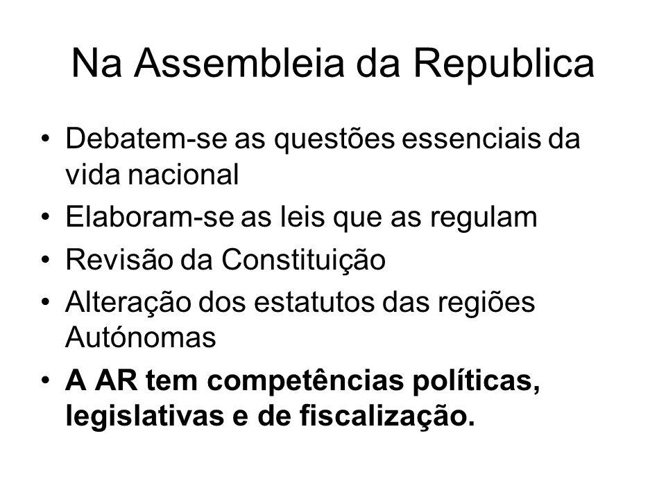 Na Assembleia da Republica