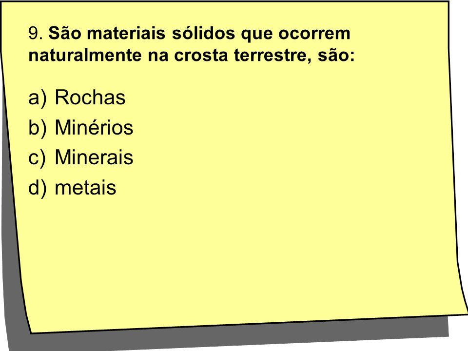 Rochas Minérios Minerais metais