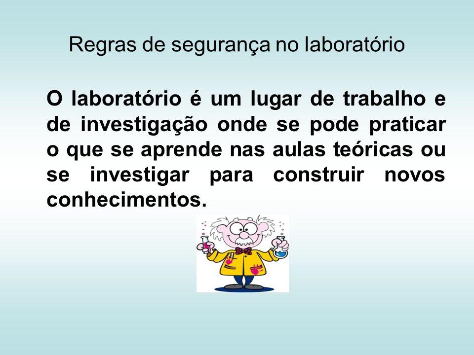 Regras de segurança no laboratório
