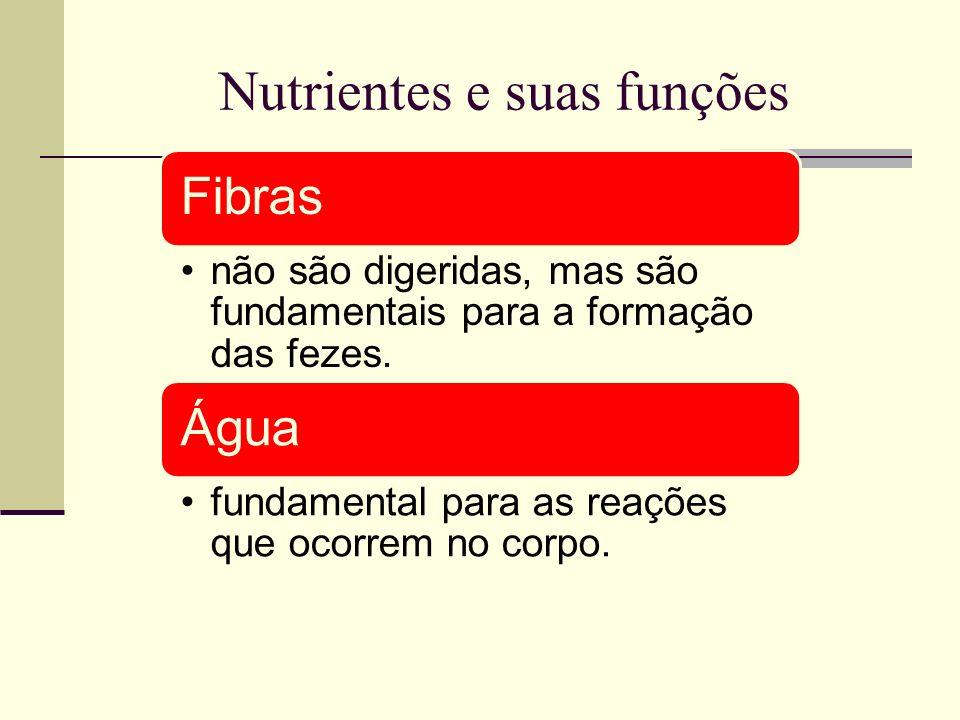 Nutrientes e suas funções