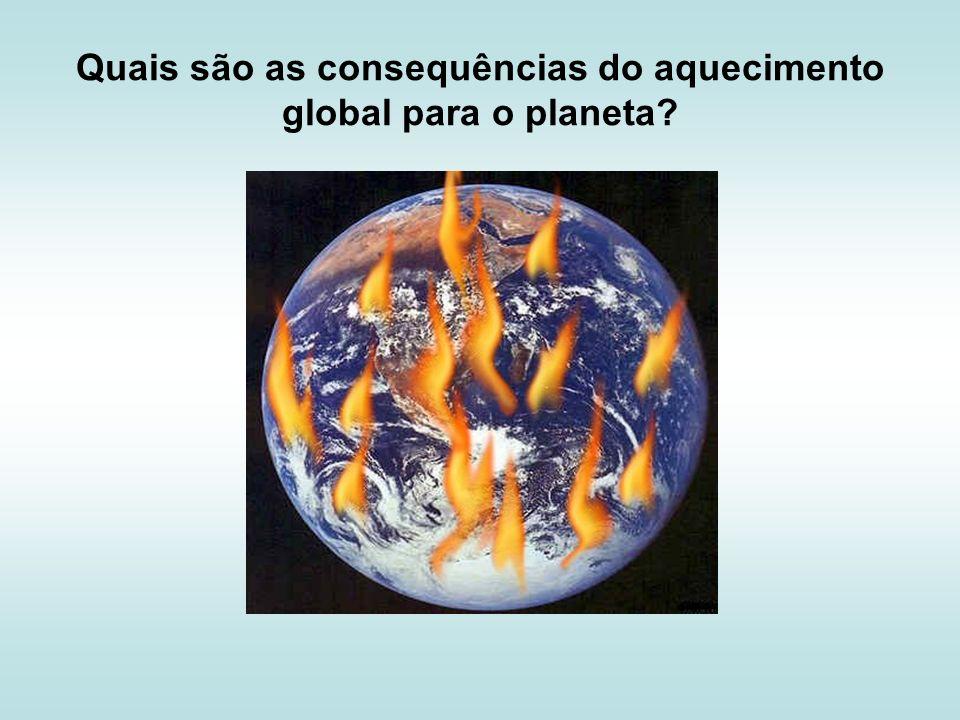 Quais são as consequências do aquecimento global para o planeta