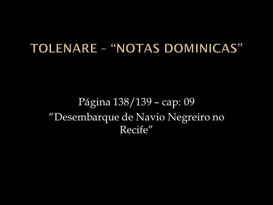 Tolenare – Notas Dominicas