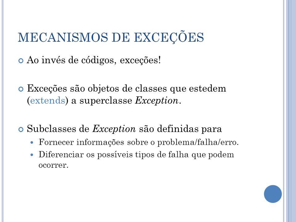 MECANISMOS DE EXCEÇÕES