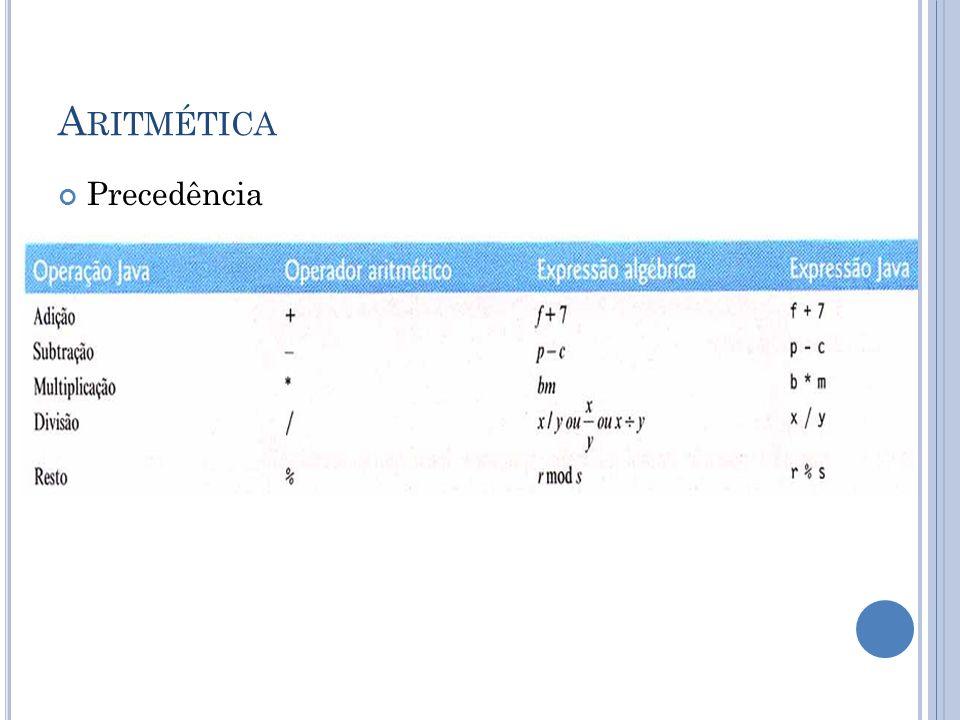 Aritmética Precedência