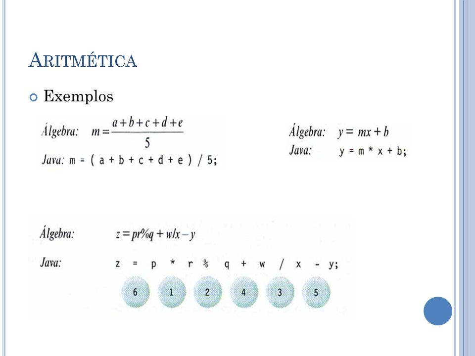 Aritmética Exemplos