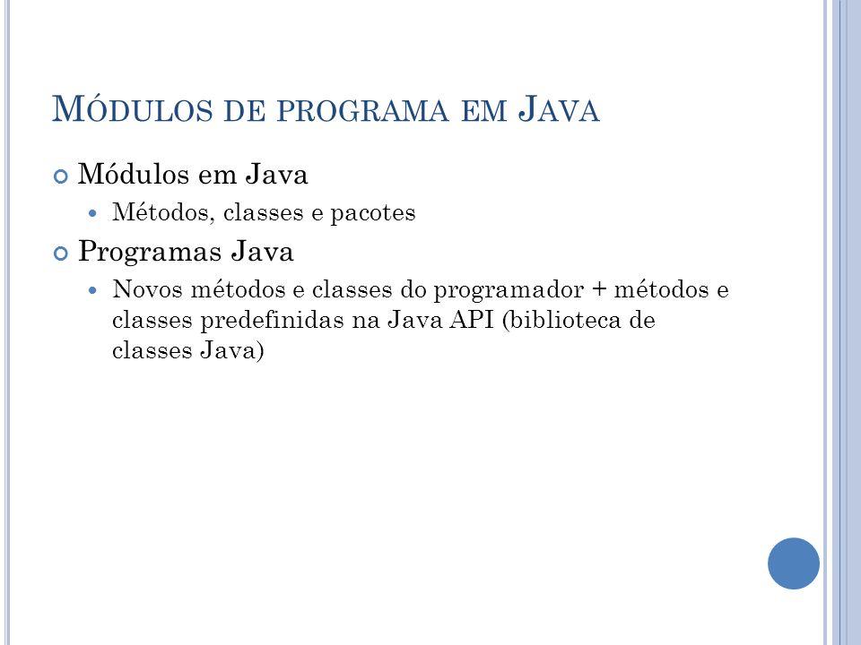 Módulos de programa em Java