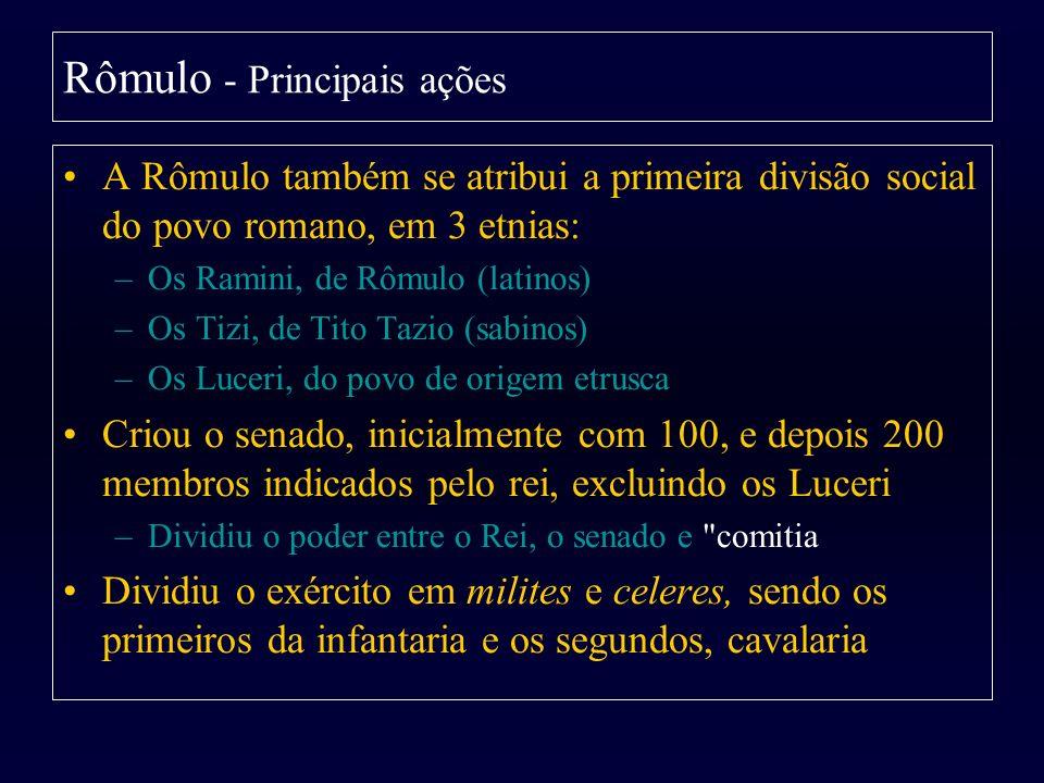 Rômulo - Principais ações